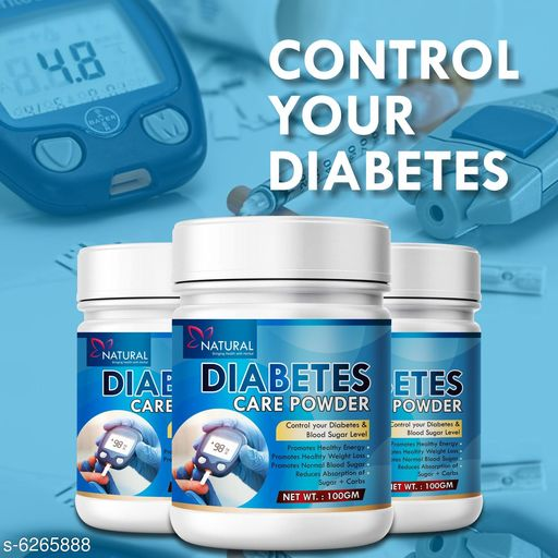 Supplement (Herbal/Vitamins) Diabetes Care Herbal Powder for Control Your Diabetes & Blood Sugar Levels  *Product Name* Diabetes Care Herbal Powder for Control Your Diabetes & Blood Sugar Levels  *Brand Name* Natural  *Product Type* Powder  *Capacity* 100 gm each Diabetes care powder pack of 3  *Sizes Available* Free Size *    Catalog Name: Free Gift Wrapped  Diabetes Care Herbal Powder for Control  CatalogID_992250 C126-SC1573 Code: 9811-6265888-