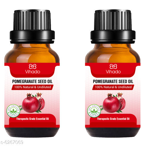Herbal Products Pomegranate oil For Healthy, Strong Hair with Antioxidant Boost (30 ml) (Pack of 2)  *Product Name* Pomegranate oil For Healthy, Strong Hair with Antioxidant Boost (30 ml) (Pack of 2)  *Brand Name* Vihado  *Type* Oil  *Flavour* Pomegranate  *Capacity* 30 ml (Each)  *Multipack* 2  *Sizes Available* Free Size *    Catalog Name:  Advanced Natural Herbal Oil CatalogID_992654 C50-SC1297 Code: 062-6267069-