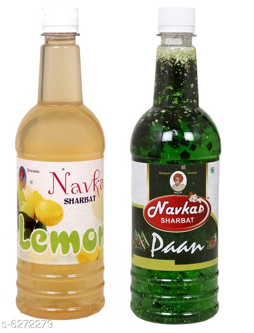 Soft Drinks Healthy Soft Drinks  *Product Name* Nimbu &  Paan Syrup  *Brand Name* Navkar Sharbat  *Multipack* Pack of 2  *Capacity* 750 ml Each  *Sizes Available* Free Size *    Catalog Name: Healthy Soft Drinks CatalogID_994184 C89-SC1779 Code: 763-6272279-