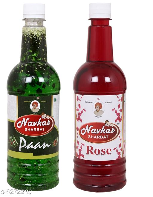 Soft Drinks Healthy Soft Drinks  *Product Name* Rose & Paan Syrup  *Brand Name* Navkar Sharbat  *Multipack* Pack of 2  *Capacity* 750 ml Each  *Sizes Available* Free Size *    Catalog Name: Healthy Soft Drinks CatalogID_994192 C89-SC1779 Code: 793-6272289-