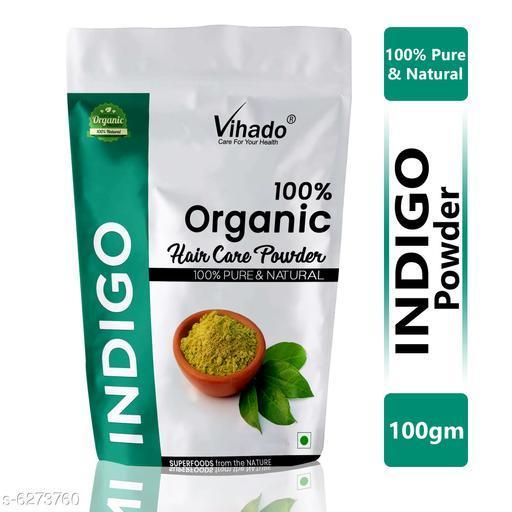 Vihado Natural Indigo Leaf Powder 100% Fresh Powder 100g (Pack of 1)