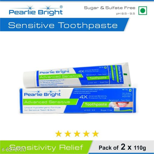 Pearlie Bright Advanced Sensitive toothpaste-110g (pack of 2)
