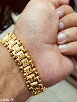 Trendy Men's Golden Bracelet