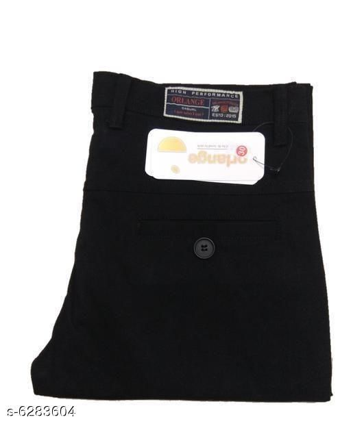 Regular Fit Cotton Men's Trousers