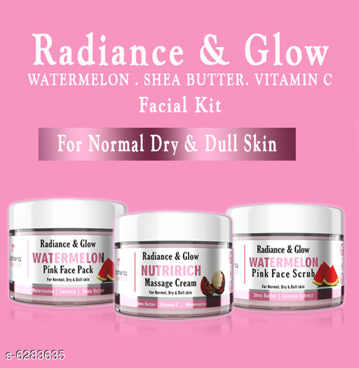 Face Watermelon face Cream+Face Scrub + face Pack   *Product Name* Watermelon face Cream+Face Scrub + face Pack  *Type* Cream  *Multipack* 3  *Sizes Available* Free Size *    Catalog Name: Rediance & Glow CatalogID_997181 C51-SC1241 Code: 744-6283635-