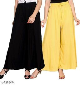 Women's Solid Pack of 2 Palazzo