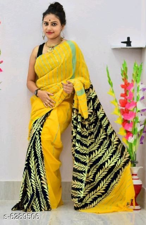 Stylish  Women's Soft Cotton Saree