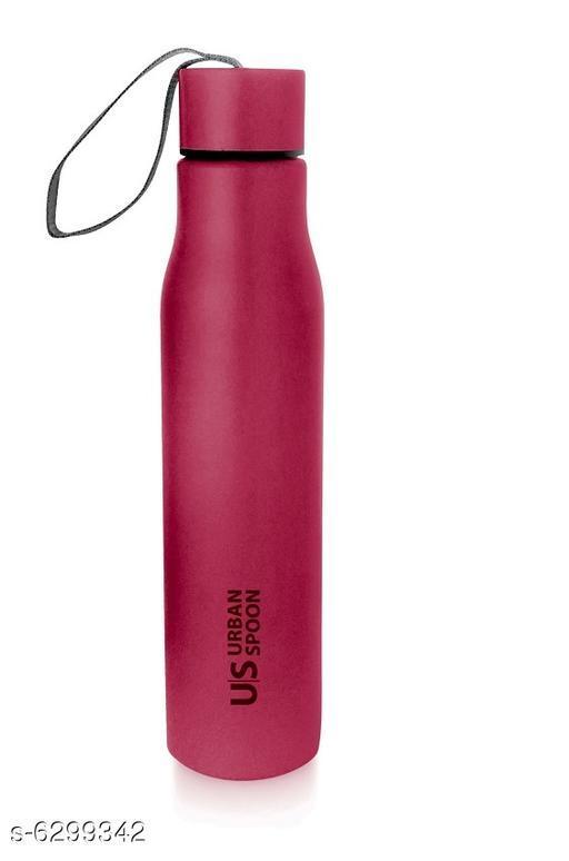 Urban Spoon  Single wall Regular Water Bottle 650ml Red