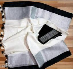 Trendy Superior Cotton Linen Sarees