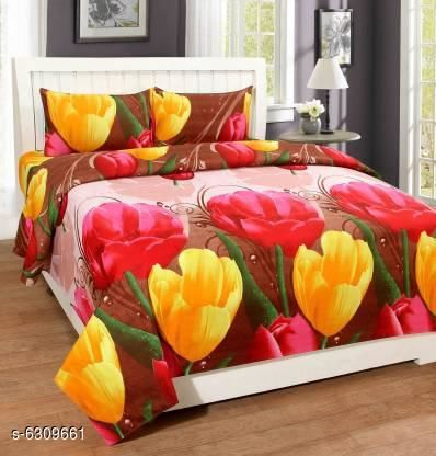 Trendy Summer Polycotton 90 X 90 Queen Double Bedsheets