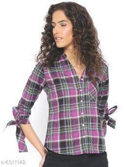Style Quotient Womens  Purple Shirt