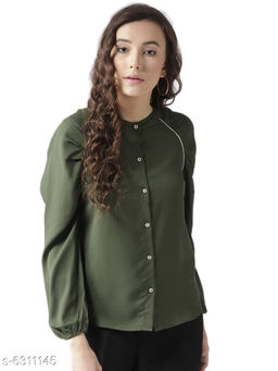 Style Quotient Womens  Olive Green Shirt