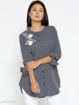 Style Quotient Womens  Navy Blue Shirt
