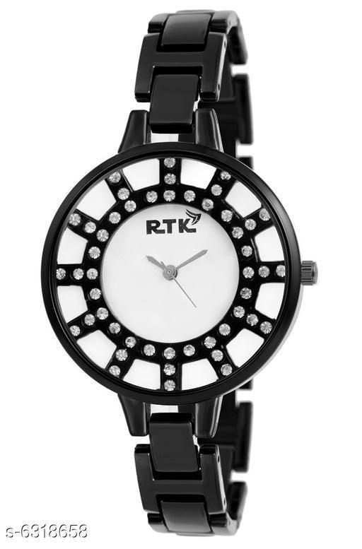 RTK New Black Chain Analog Watch For Women,Girls