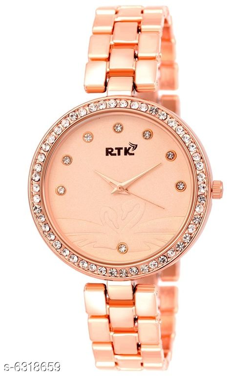 RTK NEW Rosegold chain analog watch for women,girls