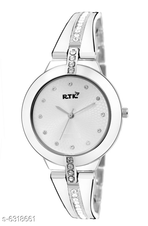 RTK New Silver Chain Metal Chain Watch For Women and Girls