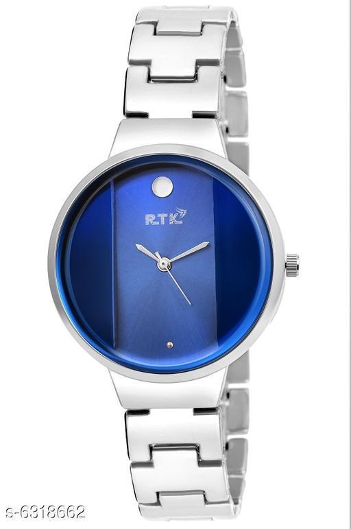 RTK New Blue Dial Metal chain analog watch for women,girls
