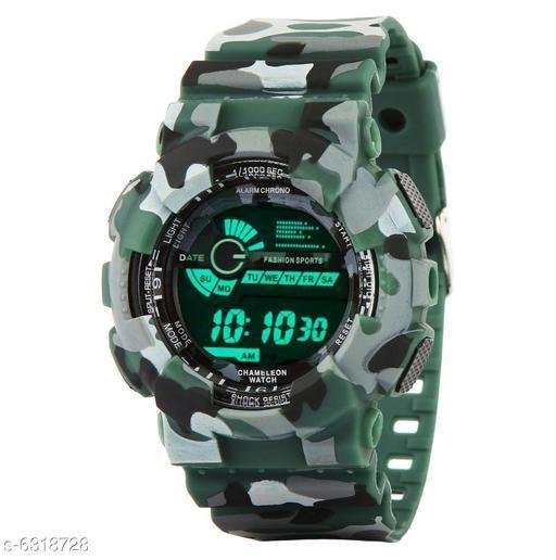 RTK New Green Strap Perfect Design Digital Watch For Boys,men
