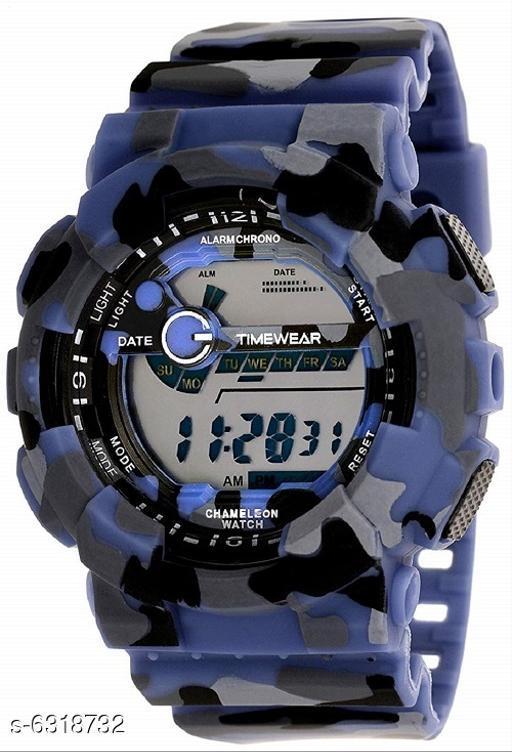RTK New Blue Digital Strap Watch For Boys,Men