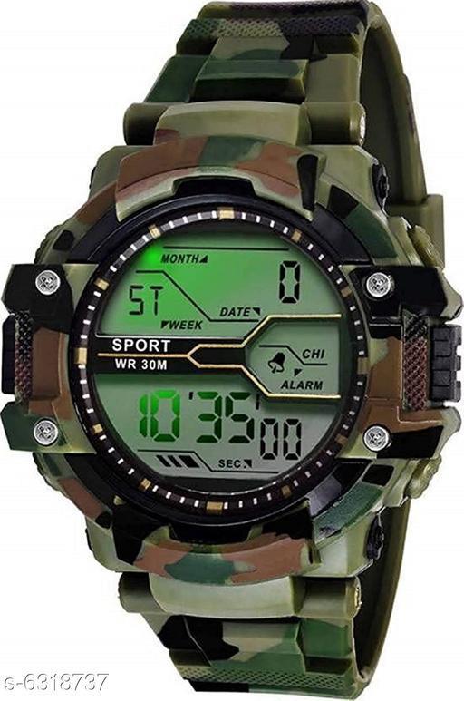 RTK New Green Strap Digital Watch For Boys,Men