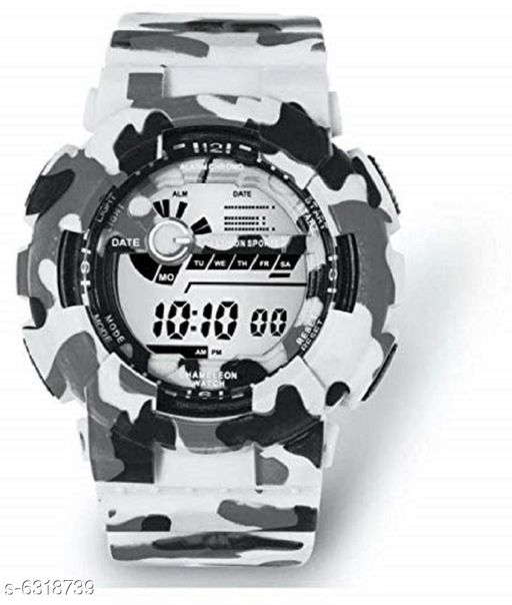 RTK New White Strap Digital Watch For Boys,Men
