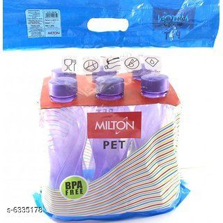 Water Bottles Milton Fridge Plastic Bottle Material: Plastic Pack: Pack of 3 Size: Free Size Country of Origin: India Sizes Available: Free Size *Proof of Safe Delivery! Click to know on Safety Standards of Delivery Partners- https://ltl.sh/y_nZrAV3  Catalog Rating: ★4 (461)  Catalog Name: Free Mask Colorful Water Bottles CatalogID_1007119 C130-SC1644 Code: 162-6335178-