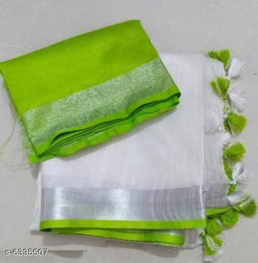 Trendy Cotton Linen Saree