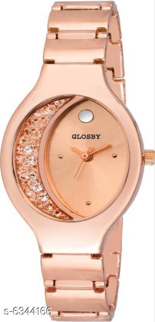 GLOSBY New Rosegold analog watch for women,Girls