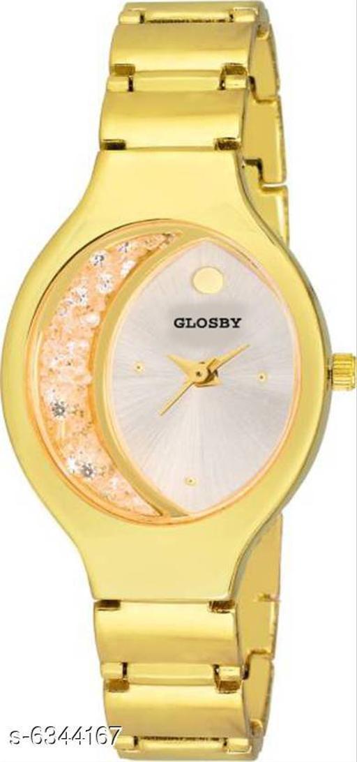 GLOSBY New Golden Chain Analog Watch For Women,Girls