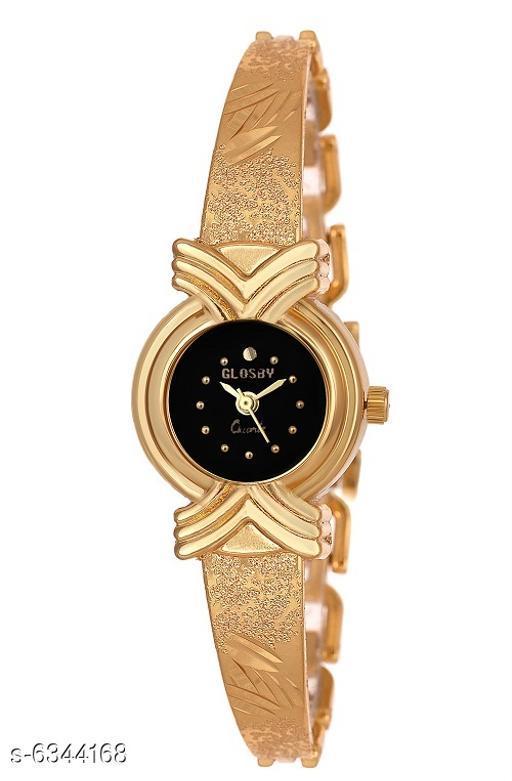 GLOSBY New GL-09 Golden Chain Analog Watch For Women,Girls