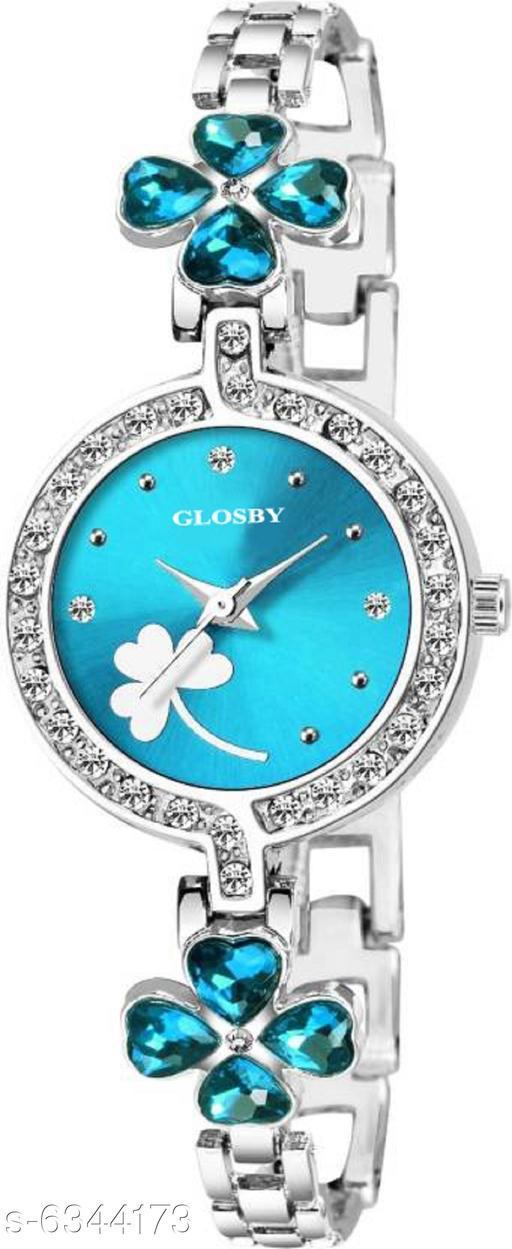 GLOSBY New Sky Blue Dial Analog Watch For Women,Girls