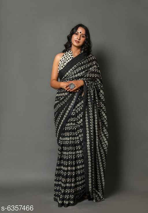 Sarees Trendy Printed Mul-Cotton Saree with Blouse Piece  *Saree Fabric* Cotton  *Blouse* Running Blouse  *Blouse Fabric* Cotton  *Pattern* Solid  *Blouse Pattern* Printed  *Multipack* Single  *Sizes*   *Free Size (Saree Length Size* 6.3 m)  *Sizes Available* Free Size *   Catalog Rating: ★3.9 (92)  Catalog Name: Trendy Printed Mul-Cotton Saree with Blouse Piece CatalogID_1010772 C74-SC1004 Code: 096-6357466-