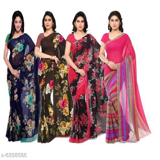 Trendy Classy Women's Saree Combo