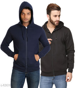 Stylish Cotton Blend Hoodies pack of 2