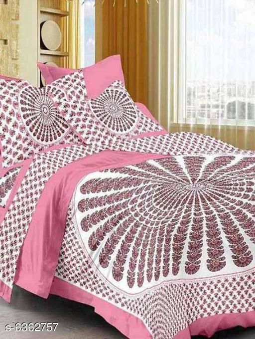 Attractive Cotton 100 X 90 Double BedsheetsEdit