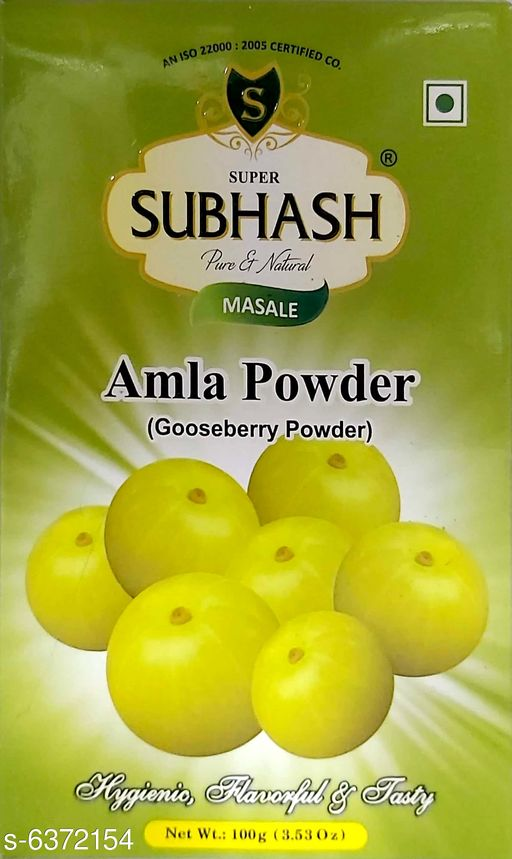 Spices Subhash Amla Powder Subhash Amla Powder Country of Origin: India Sizes Available: Free Size *Proof of Safe Delivery! Click to know on Safety Standards of Delivery Partners- https://ltl.sh/y_nZrAV3   Catalog Name: Subhash Amla Powder CatalogID_1013142 C89-SC1737 Code: 604-6372154-