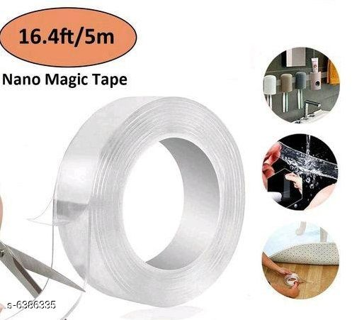 Others Magic Double Sided Reusable Tape Product Name:Magic Double sided Reusable 3 meter tape Material: Nano PU Gel Multipack: Pack of 1 Size:  500*3*0.1cm Country of Origin: India Sizes Available: Free Size   Catalog Rating: ★3.7 (79)  Catalog Name: Magic Double Sided Reusable Tape CatalogID_1015748 C81-SC1274 Code: 372-6386335-