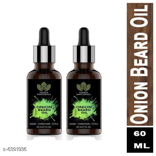 Haria Naturals Onion Beard Oil For Men Long Beard & Skin Hair Oil 30 ml (pack of 2) 60ml