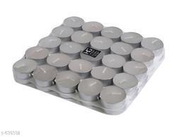 Stylish Tea Light Candles (Set Of 50)