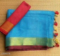 Stylish Slub Cotton Saree