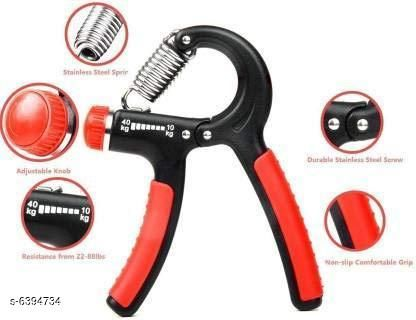 Sports Accessories Classy Sports Accessories  *Product Name* Classy Sports Accessories  *Material* Plastic Handle  *Type* Hand Grip / Fitness Grip Strengthener  *Exercise Type* General Fitness  *Weight* 10-40 kg  *Multipack* 1  *Size* Free Size  *Sizes Available* Free Size *    Catalog Name: Classy Sports Accessories  CatalogID_1017146 Code: 533-6394734-