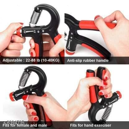 Sports Accessories Classy Sports Accessories  *Product Name* Classy Sports Accessories  *Material* Plastic Handle  *Type* Hand Grip / Fitness Grip Strengthener  *Exercise Type* General Fitness  *Weight* 10-40 kg  *Multipack* 1  *Size* Free Size  *Sizes Available* Free Size *    Catalog Name: Classy Sports Accessories  CatalogID_1017146 Code: 533-6394735-