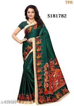 Fancy Khadi Silk Printed Saree