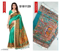 Ethnic Mysore Silk Printed Saree