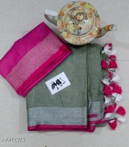 Stylish Linen Saree