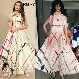 Women's Printed Cream Silk Dress