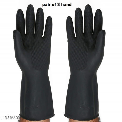Gloves & Mittens 12 inch rubber gloves Hand Gloves for Men & Women (Pack of 3 HAND PAIR)   *Product Name* 12 inch rubber gloves Hand Gloves for Men & Women  *Product Type* Hand Gloves  *Material * Rubber  *Size * Free Size  *Multipack* 3  *Sizes Available* Free Size *    Catalog Name:  Cleaning Gloves CatalogID_1020805 C72-SC1577 Code: 173-6416890-