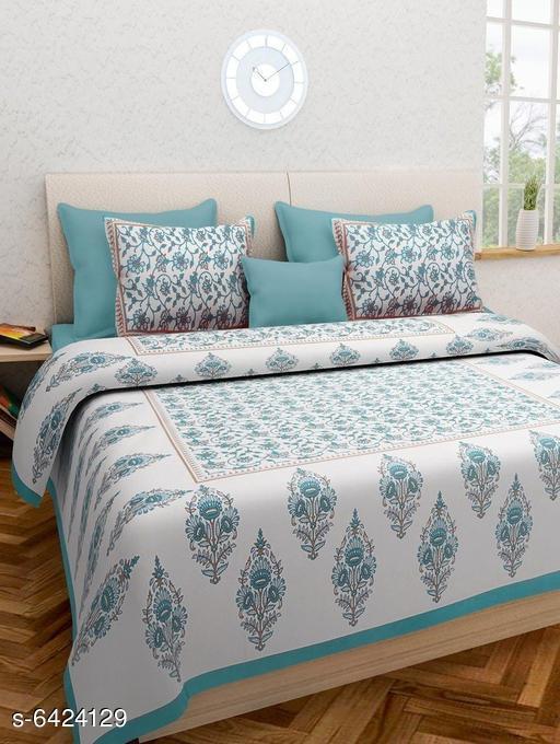 Trendy Cotton 100 X 90 Double Bedsheets