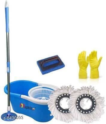 Cleaners Magic Dry Bucket Mop & Gloves Combo