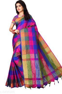 Fashionable Silk Zari Work Saree